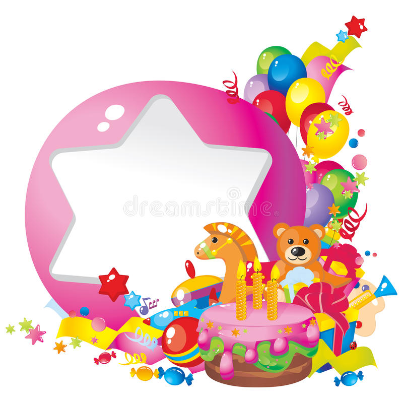 Download Children's birthday stock vector. Illustration of bright - 24018549