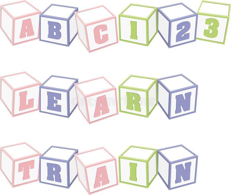 Children's building blocks royalty free illustration