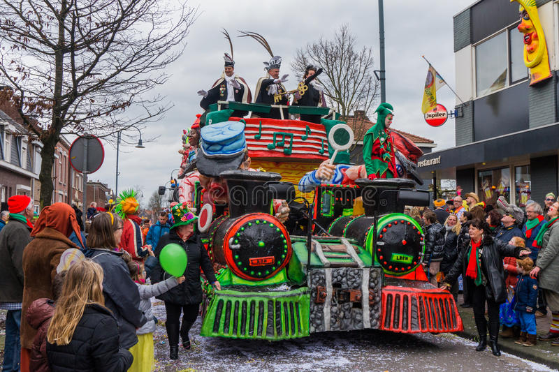 Carnival parade for children in the Netherlands stock photo
