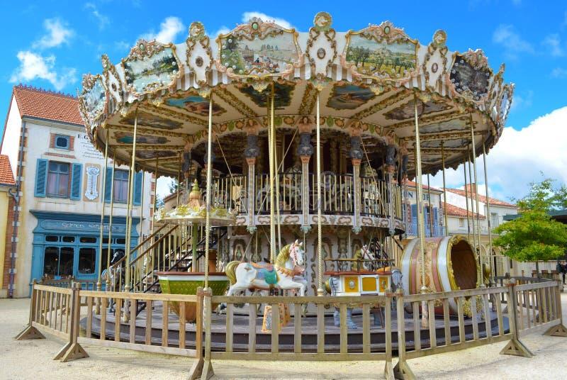 Children's Carousel stock photo