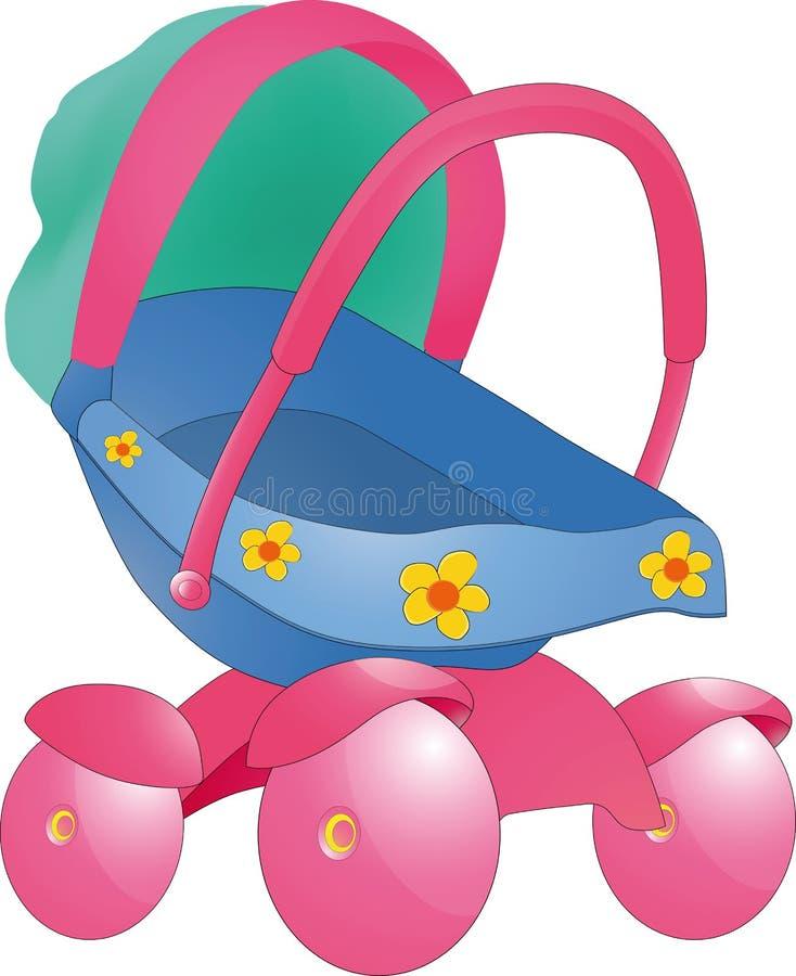 Children's carriage stock illustration