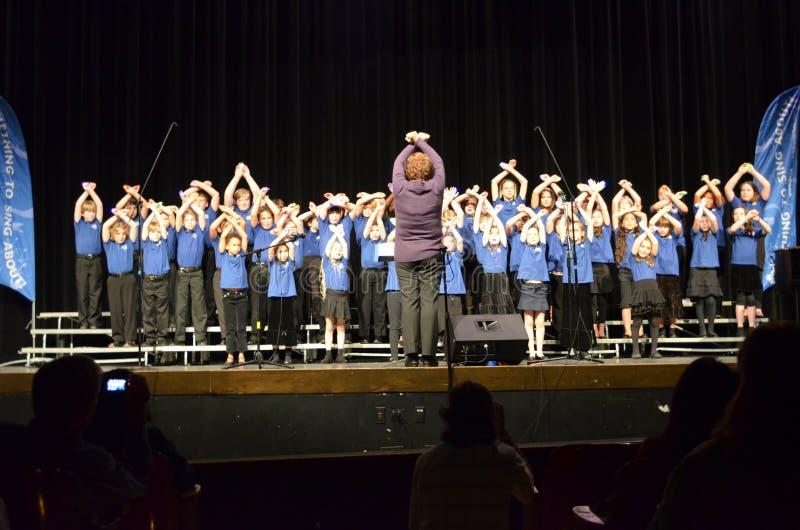OR Children's Choir Singers stock photo