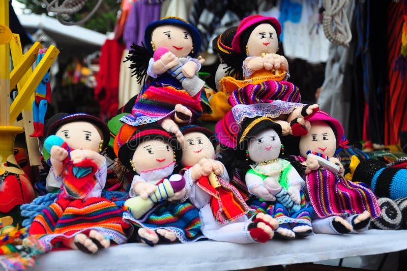 Children's cloth dolls royalty free stock photo