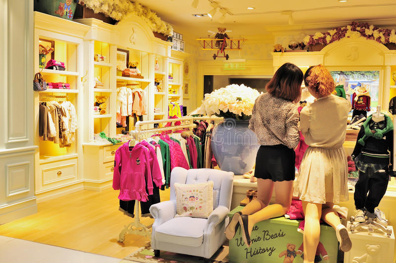 Download Children's clothing store editorial stock image. Image of boutique - 21651839