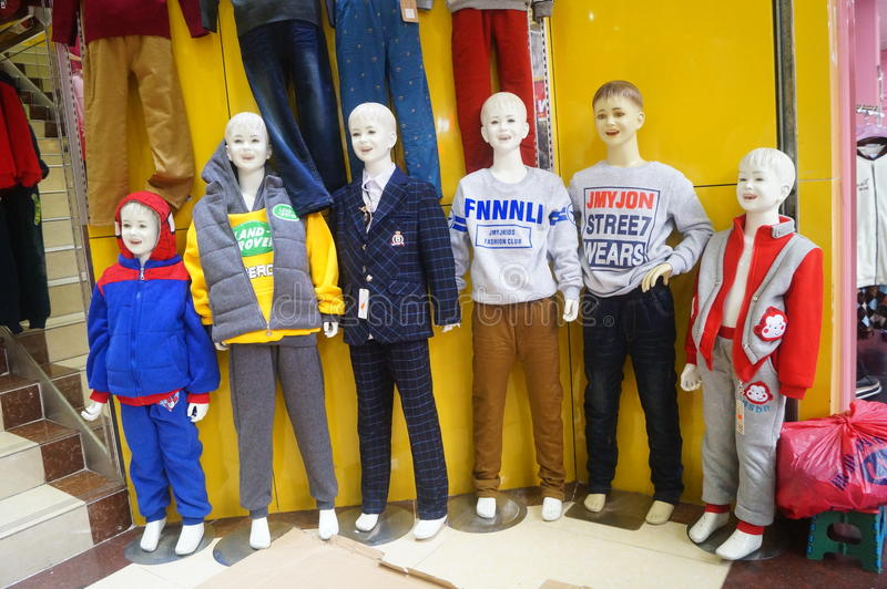 Children's clothing stores stock image