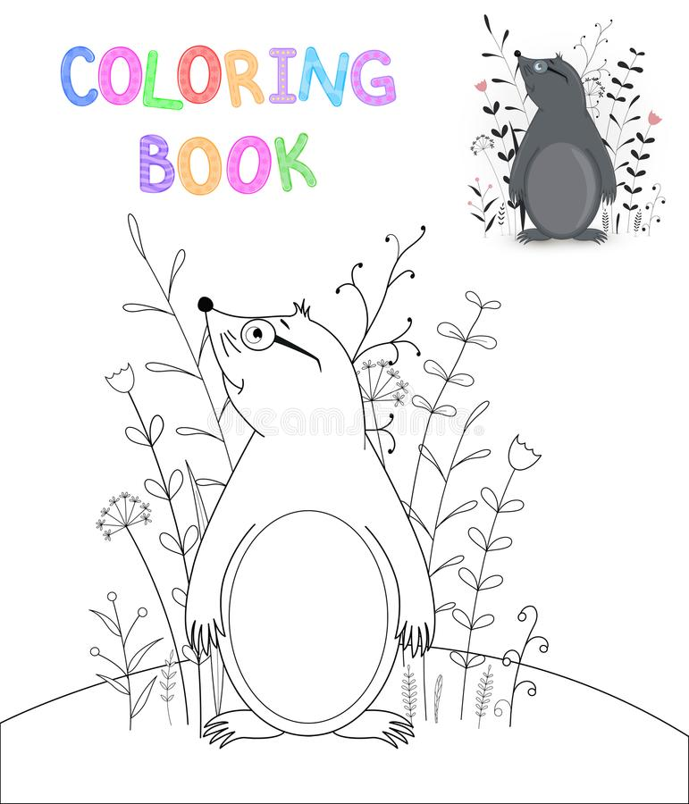 Download Children S Coloring Book With Cartoon Animals Educational Tasks For Preschool Cute Mole