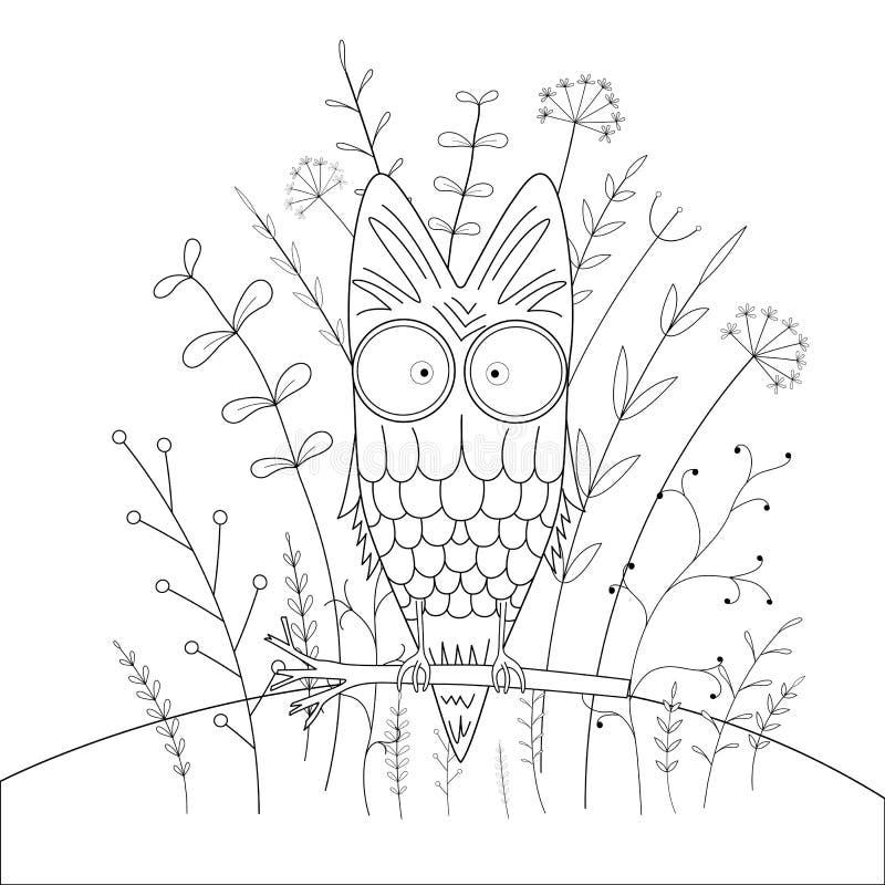 Children s coloring book with cartoon animals. Educational tasks for preschool children sweet owl. Children`s coloring book with cartoon animals. Educational vector illustration
