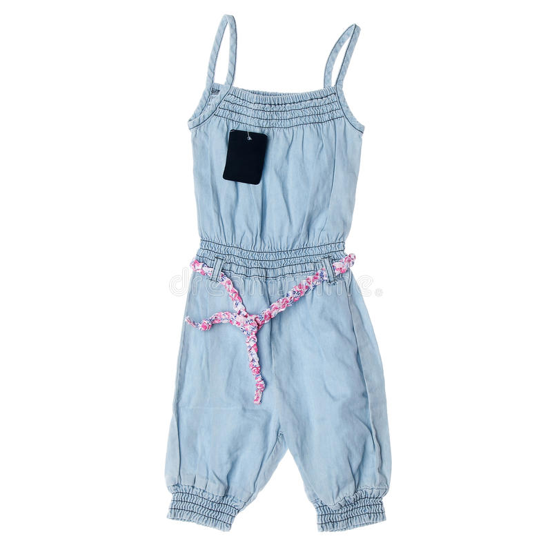 Children's denim clothes stock photography