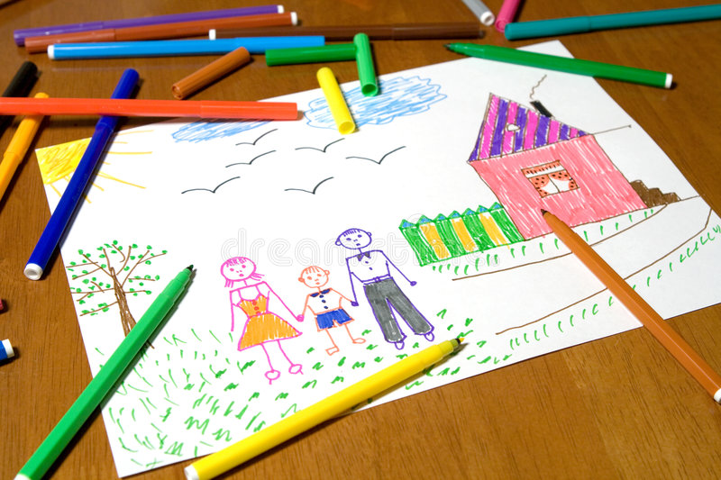 Children's drawing royalty free stock images
