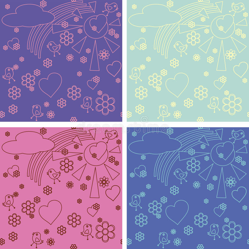 Download Children's Drawings Seamless Pattern Stock Photography - Image: 22263442