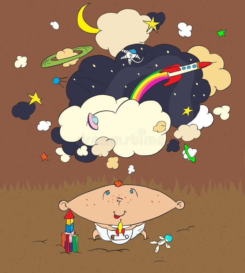 Download Children's dreams stock vector. Illustration of illustration - 21416498