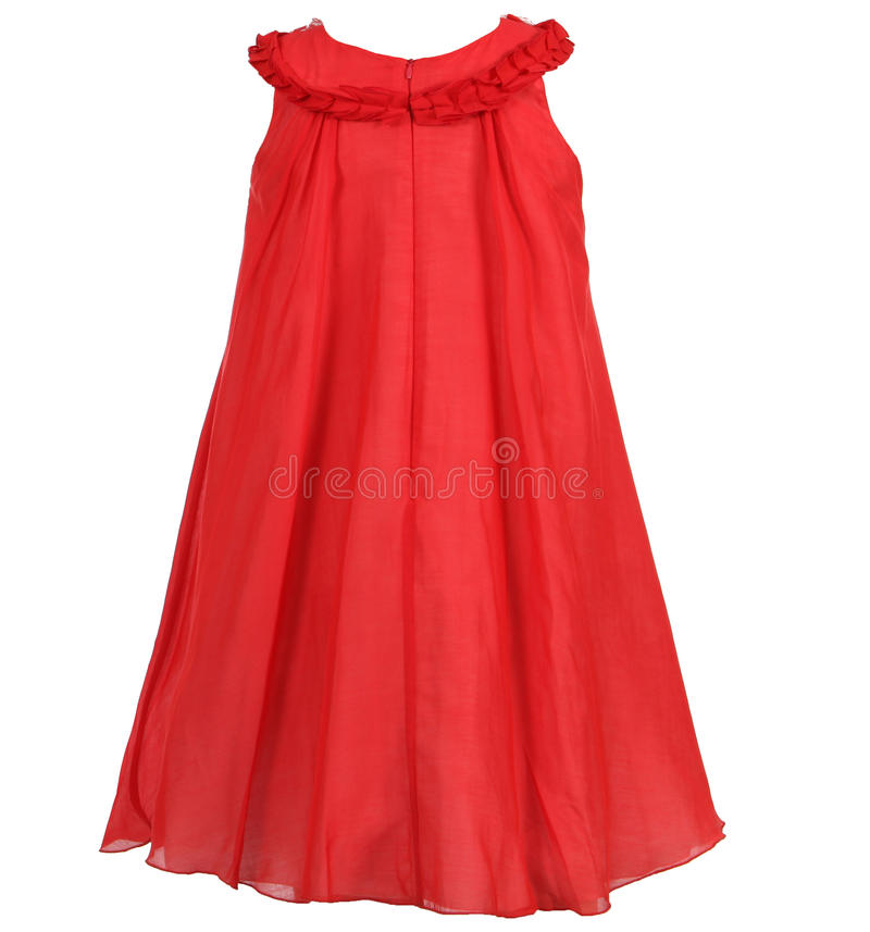 Children`s dress isolated on white background royalty free stock images