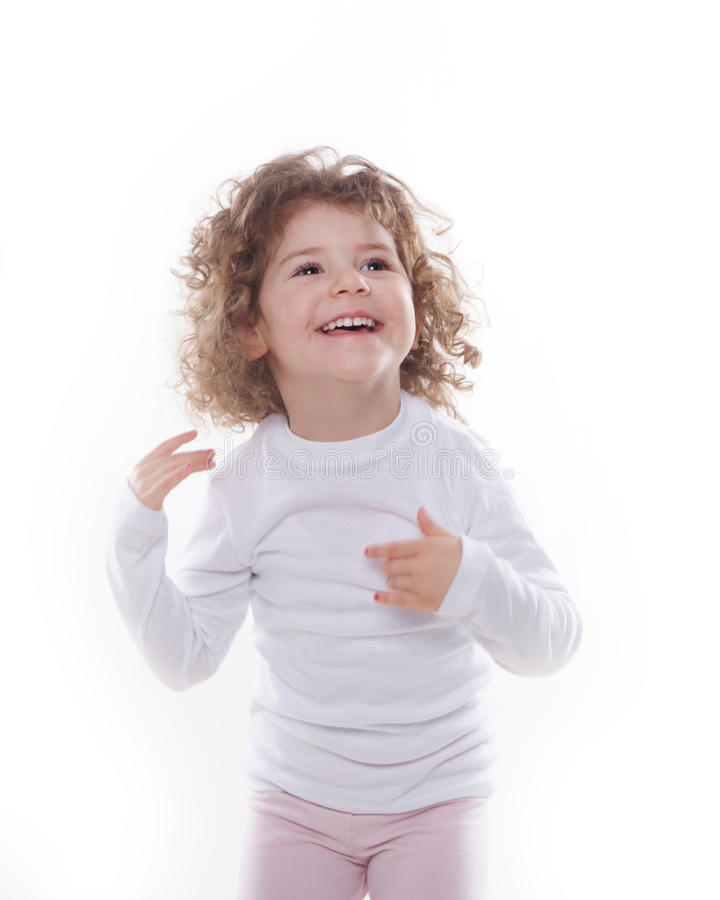 The children's emotions isolated. The children's emotions like happy, sad, funny, angry on white background royalty free stock images