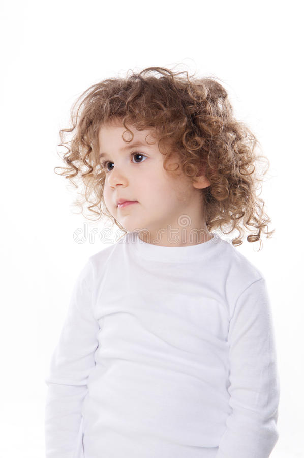 The children's emotions isolated. The children's emotions like happy, sad, funny, angry on white background stock photos