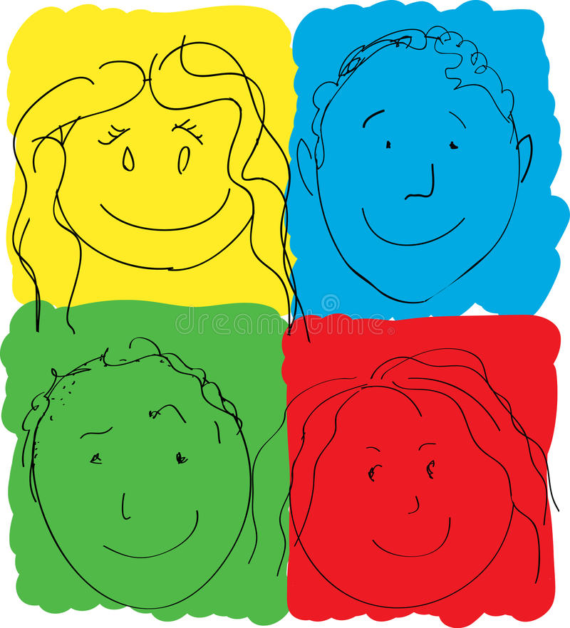 Download Children's Faces, Primary Colors Royalty Free Stock Images - Image: 17670159