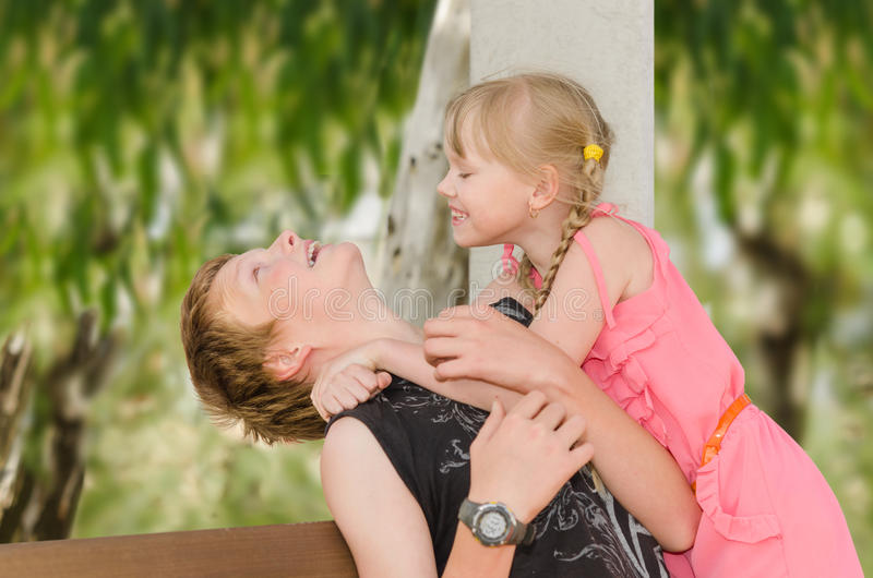 Children's first feelings and emotions stock photography