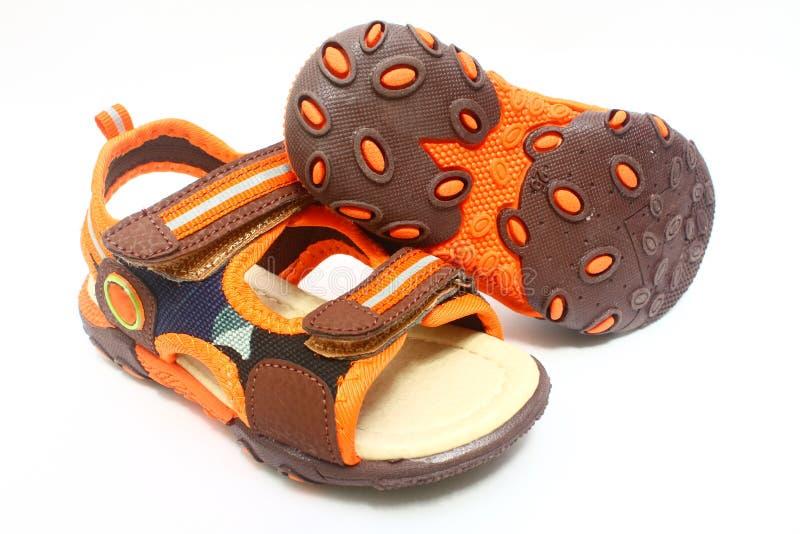 Children's footwear stock images