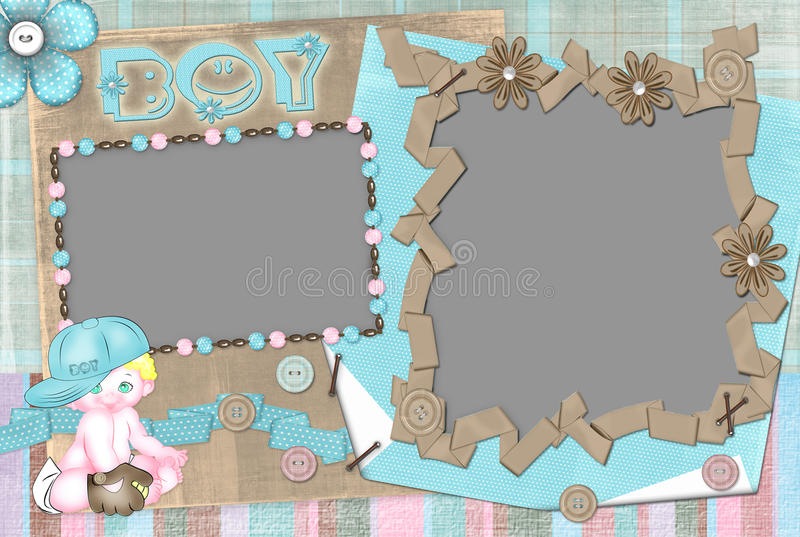 Children's frame for the boy. royalty free stock images