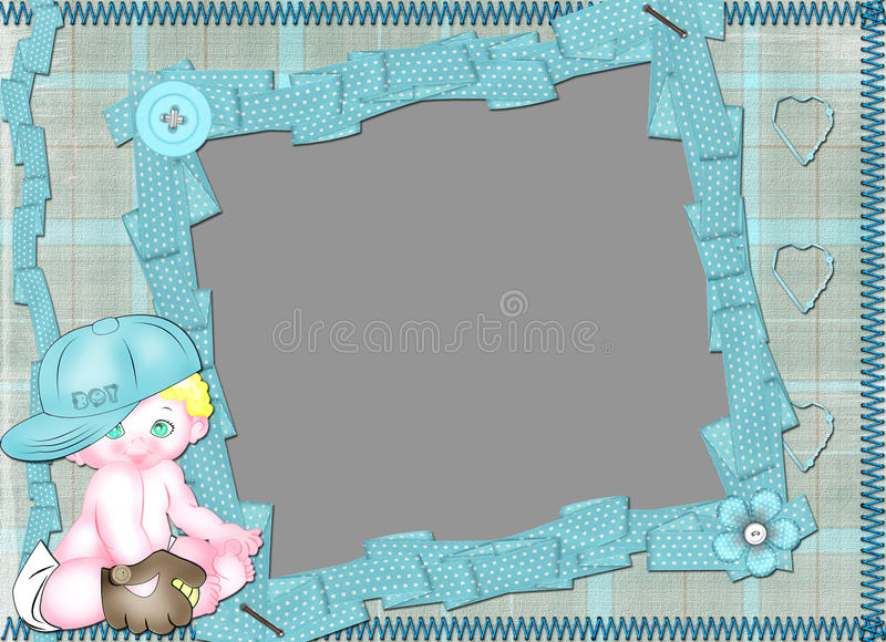 Children's frame for the boy. royalty free stock photo