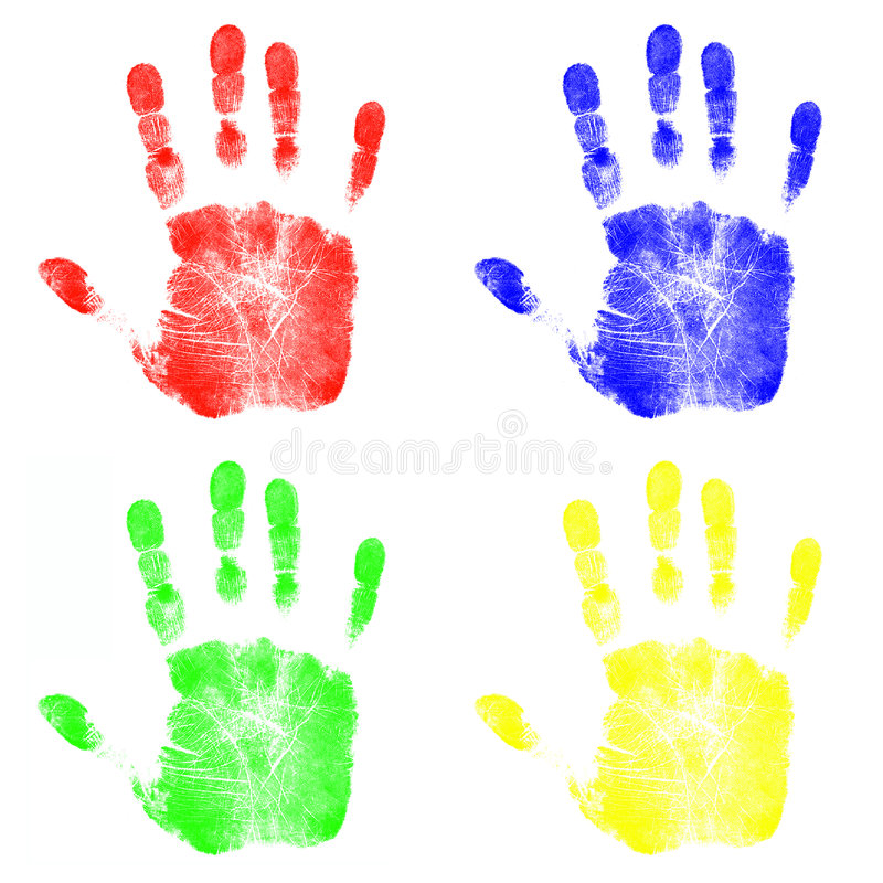 Children's Hand Prints royalty free illustration