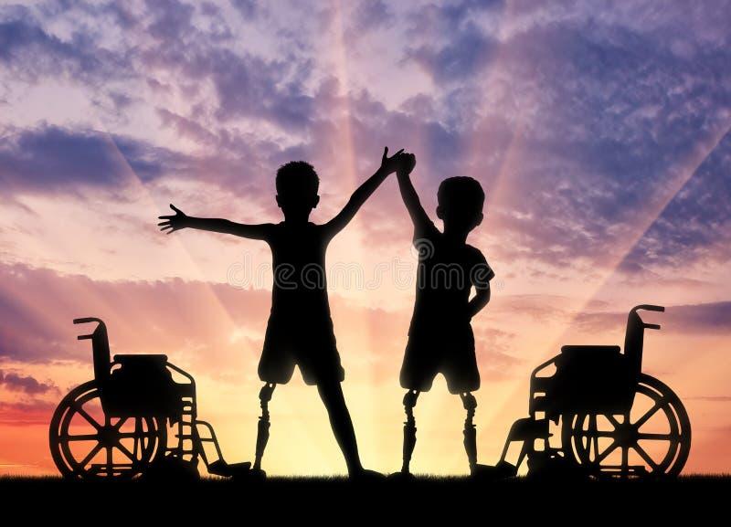 Children& x27; s-handikappbegrepp royaltyfri fotografi