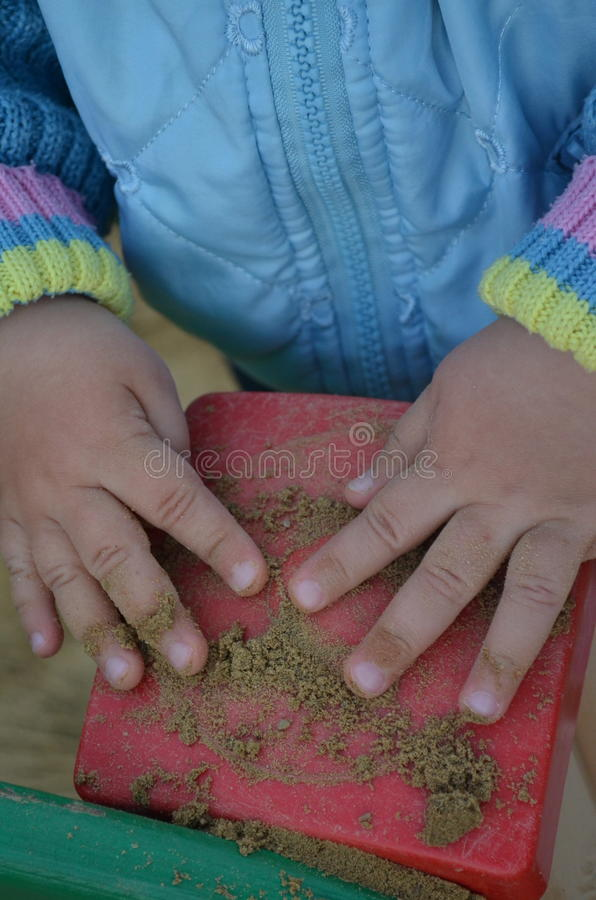 Children's hands royalty free stock photography