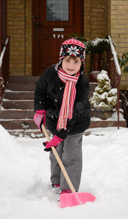 Download Children's Help With Winter Cleaning Stock Image - Image: 23345025
