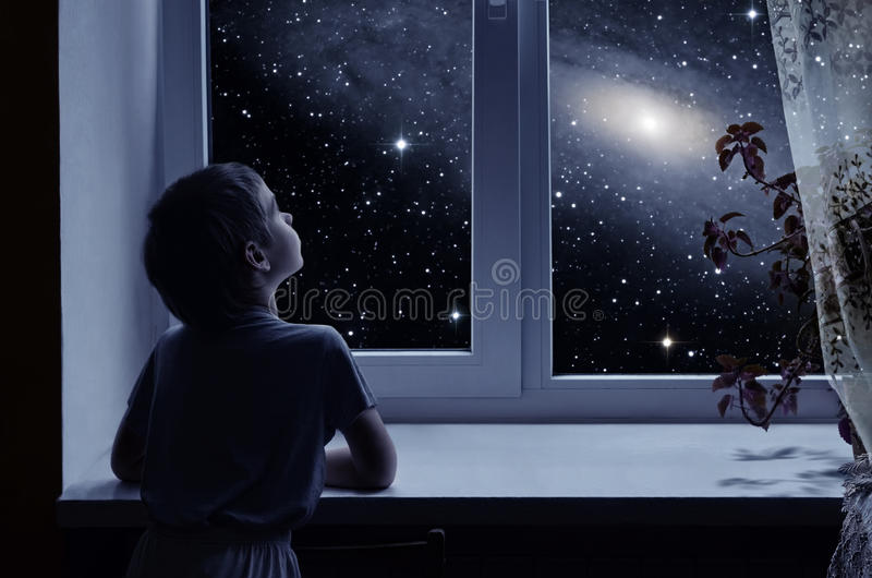 Children's imagination stock images