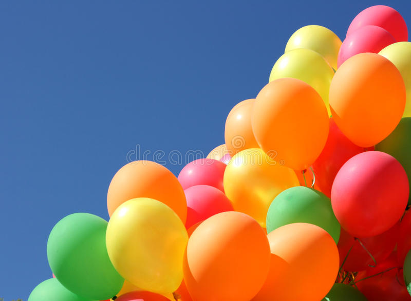 Children's inflatable spheres royalty free stock image