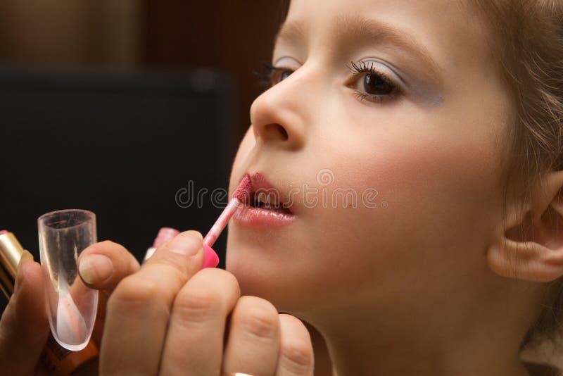 Children's Make-up royalty free stock photo