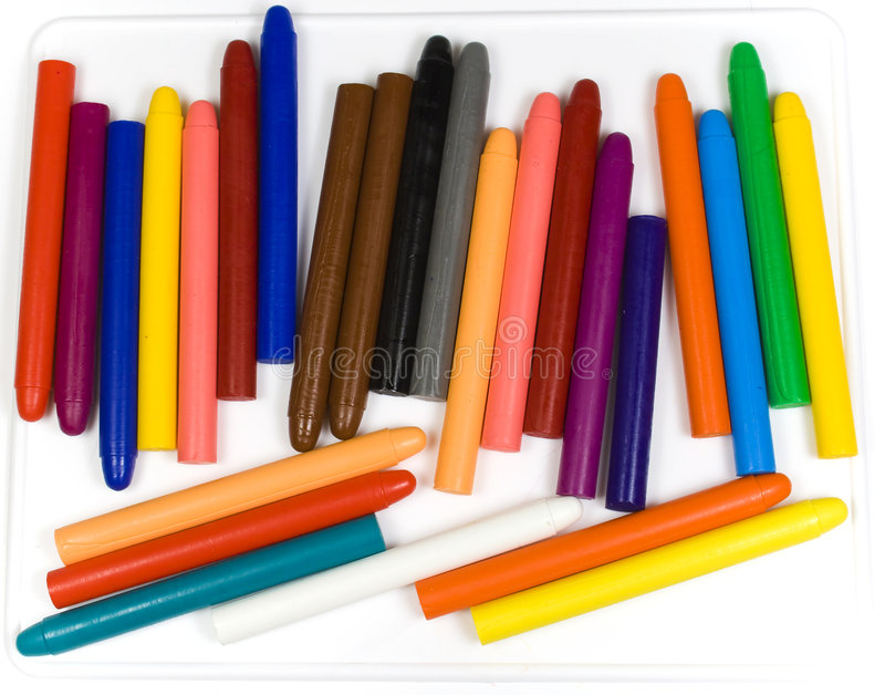 Children's oil pencils royalty free stock image