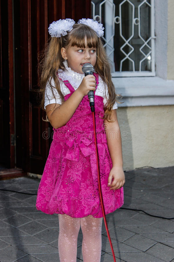 Children's open-air concert in the Gomel region of the Republic of Belarus. In the summer in Belarus regularly hosts entertainment events and concerts for the royalty free stock images