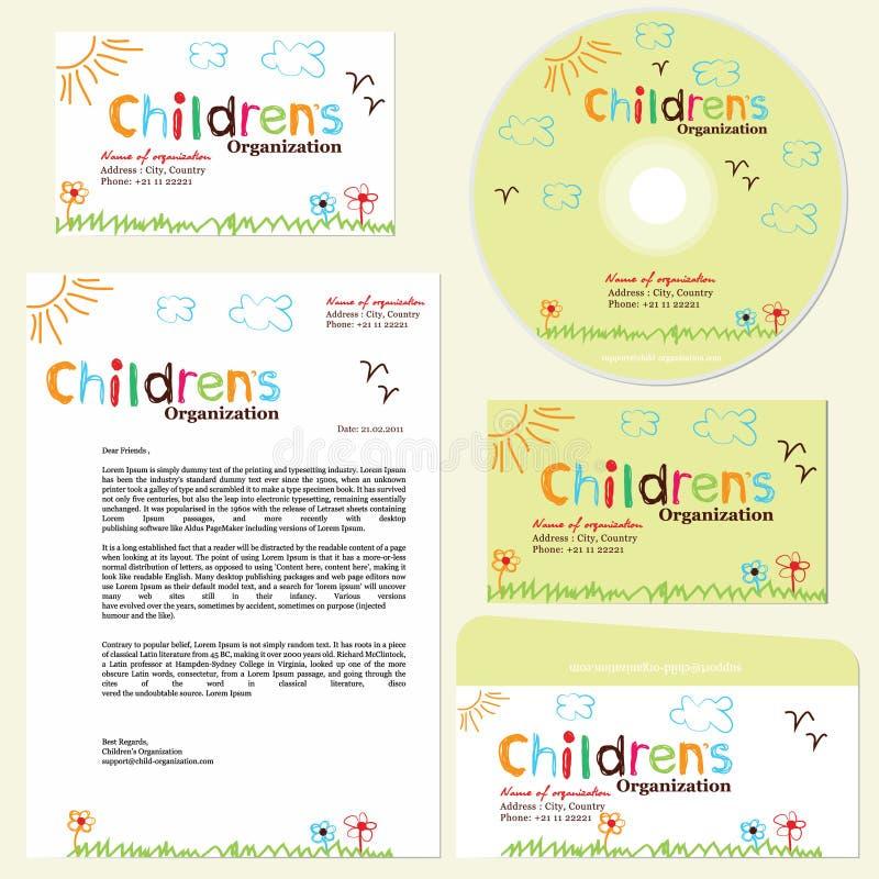 Download Children's Organization Template Stock Vector - Image: 20031303