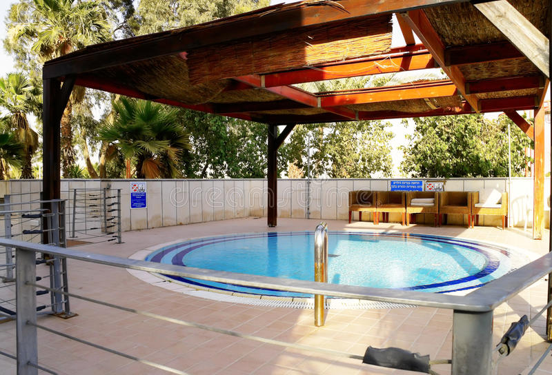 Children's outdoor swimming pool stock image
