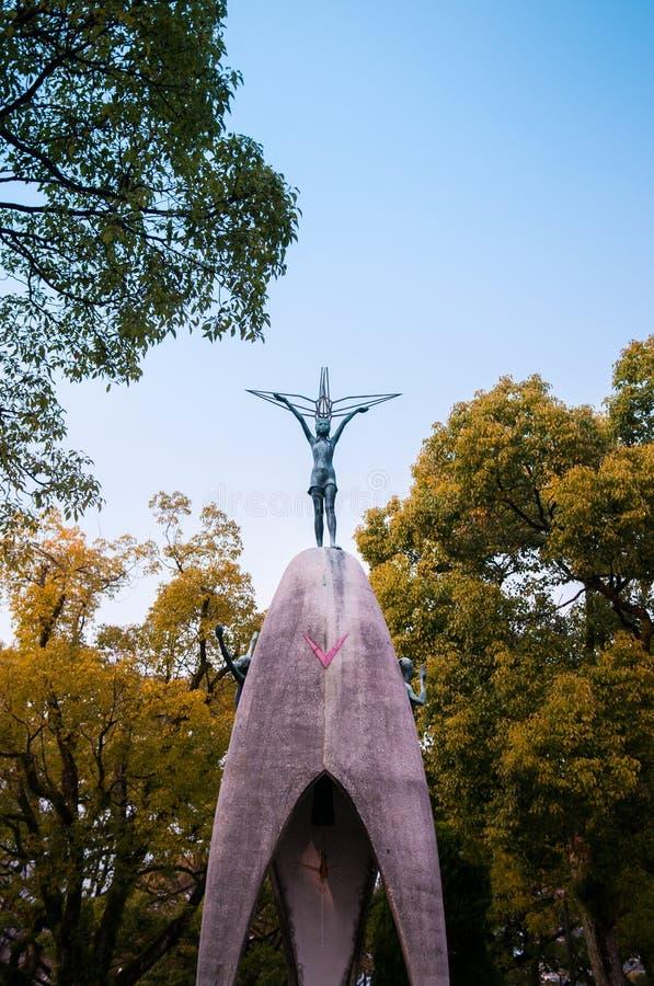 Children's Peace Monument, Sadako Sasaki statue, Hiroshima, Japa stock image