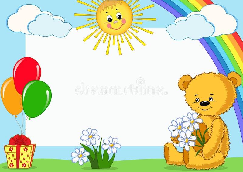 Children's photo framework. Bear. Vector illustration vector illustration