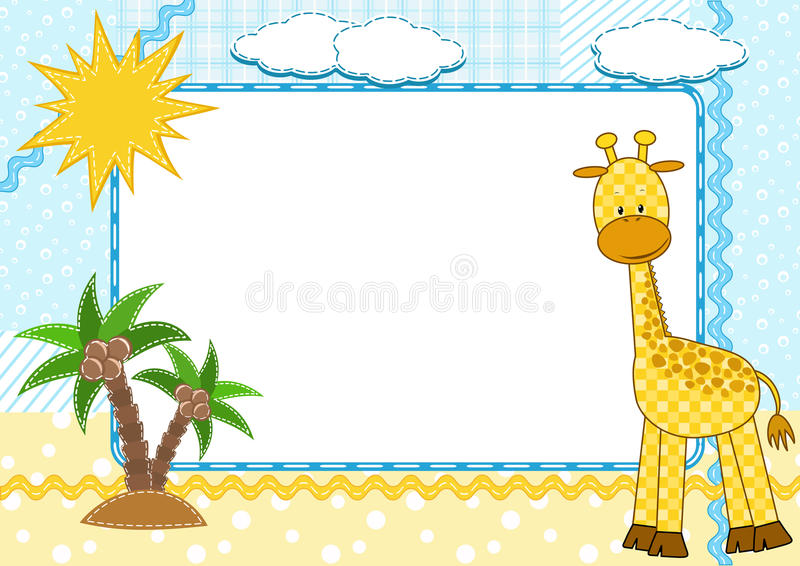 Download Children's Photo Framework. Giraffe. Royalty Free Stock Image - Image: 18989986