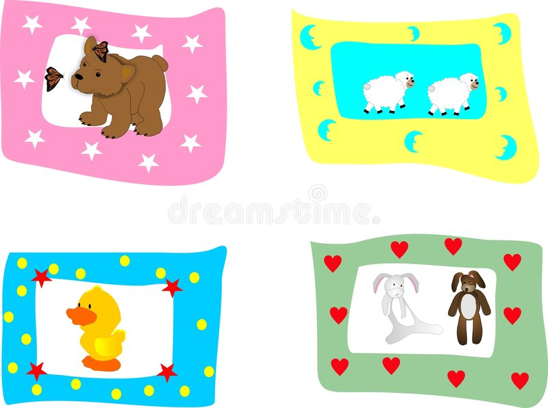 Children's pictures. Children's animal pictures, great for scrapbooking, ads and so on..... Great for any anything that involves children royalty free illustration