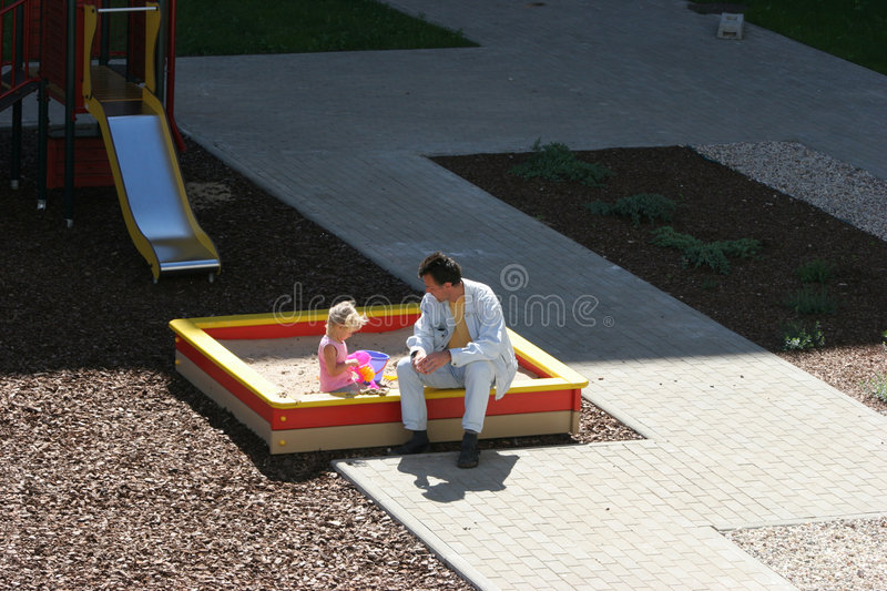 At the children's playground stock images