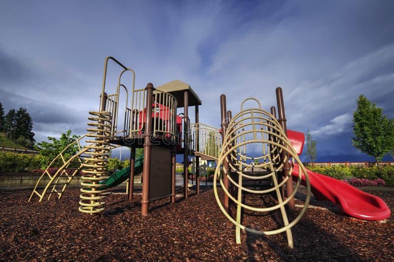 Download Children's Playground stock photo. Image of bark, public - 14064898