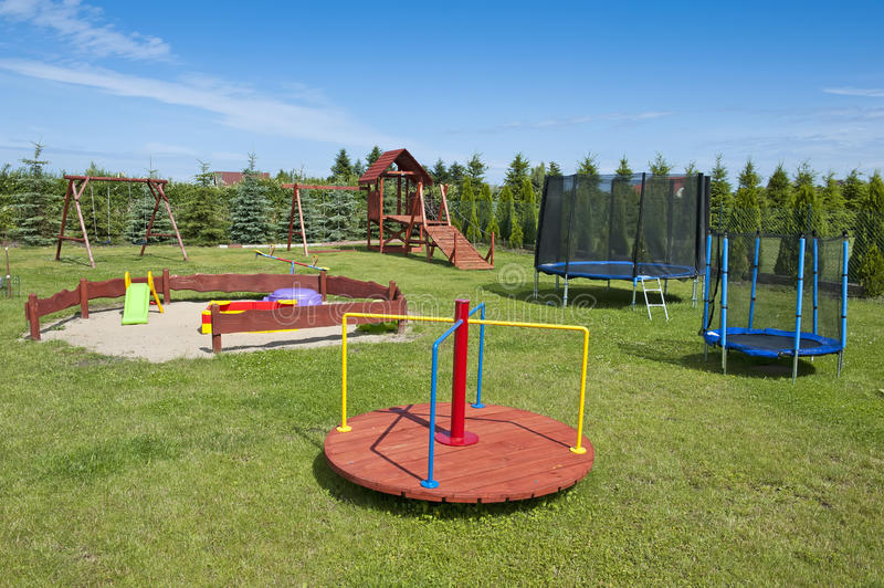 Download Children's playground stock image. Image of care, colour - 25853893