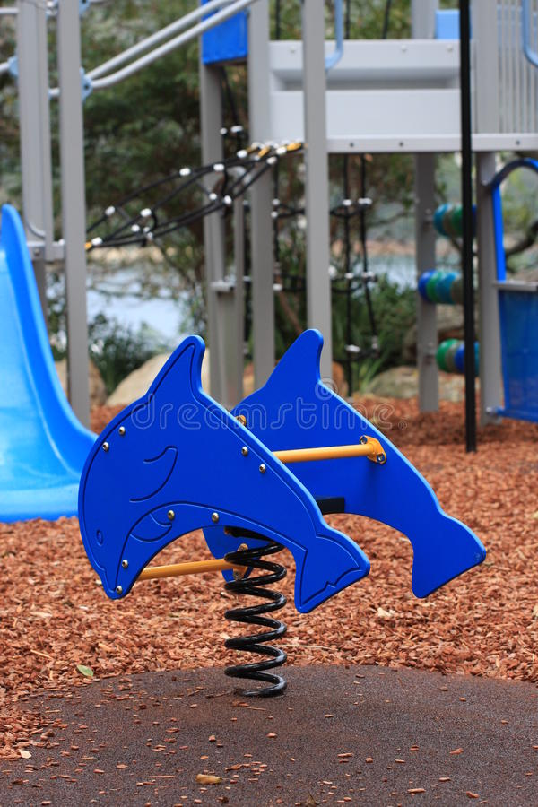 Children's playground equipment. In a public park royalty free stock photos