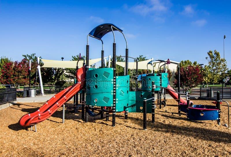 Children`s Playground Jungle Gym Set royalty free stock photos