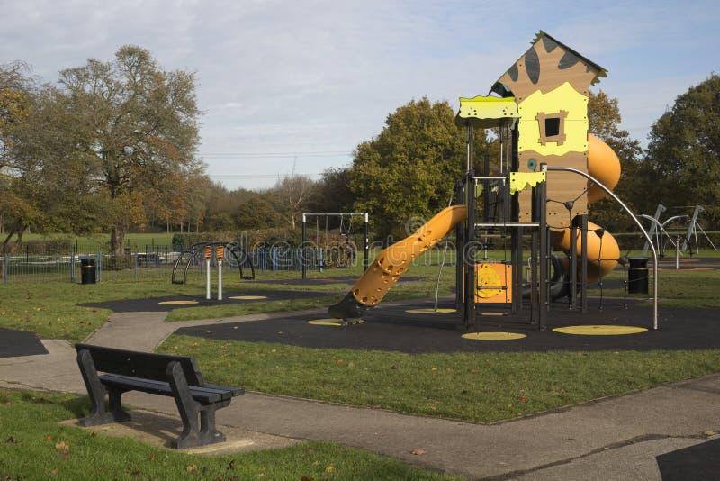 Children`s Playground in Wickford Memorial Park, Essex, England. Children`s Playground in Wickford Memorial Park, Wickford, Essex, England royalty free stock photos