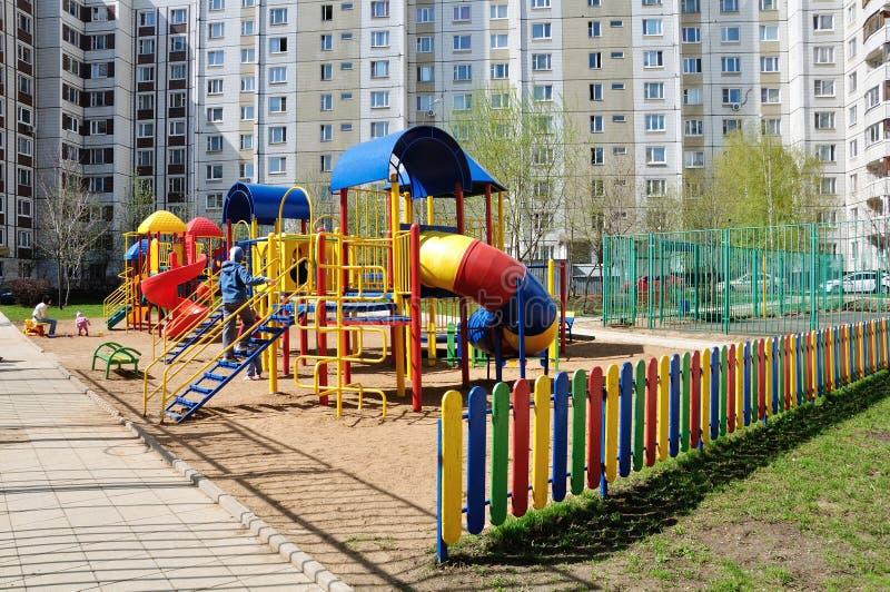 Download Children's Playground In  Yard Stock Image - Image: 24562291