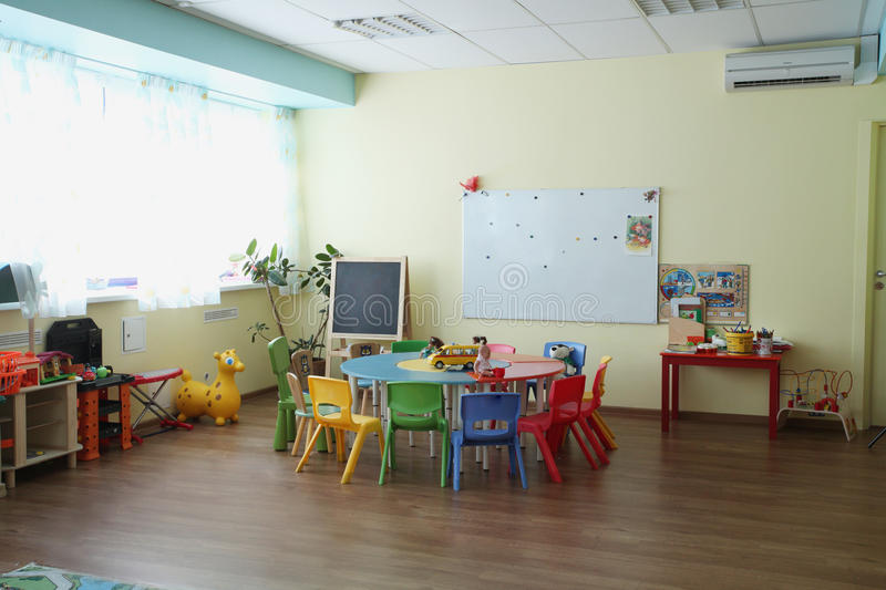 Children's playroom. Interior of the Children's playroom royalty free stock image