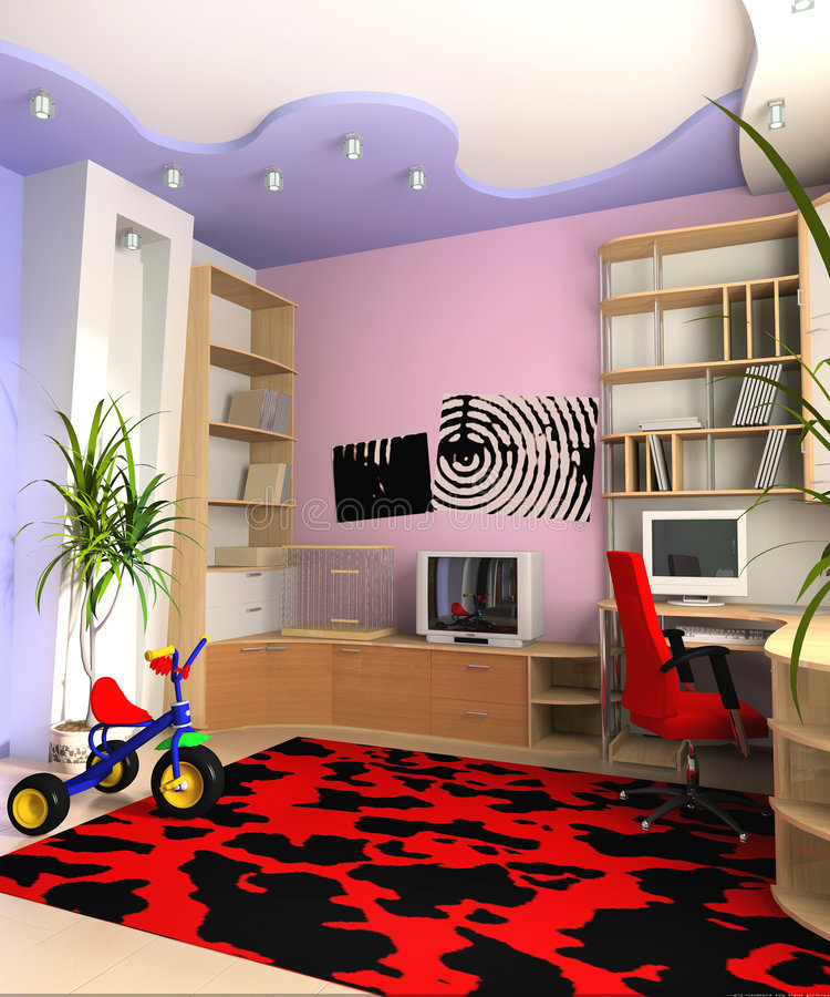 Children's room stock illustration