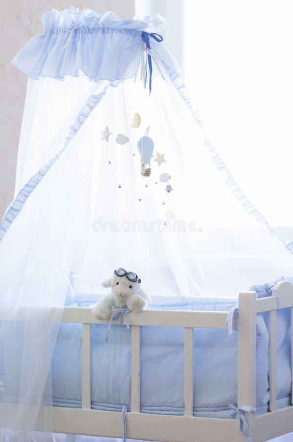 Children's room. Baby cot. stock photo