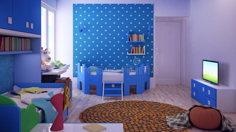 Children's room, bedroom stock photos