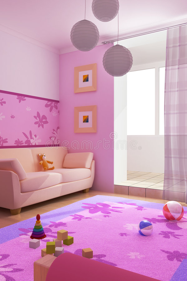 Children's room interior royalty free illustration